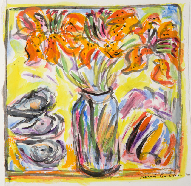 <span class=&#34;artist&#34;><strong>Fionna Carlisle</strong></span>, <span class=&#34;title&#34;><em>Tiger Lilies and Oysters</em></span>