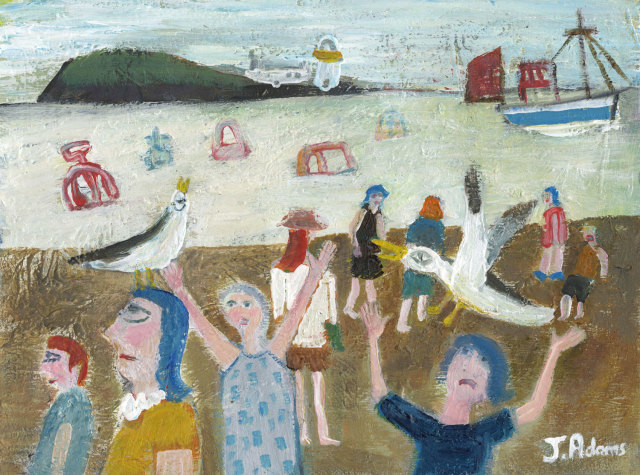 <span class=&#34;artist&#34;><strong>James Newton Adams</strong></span>, <span class=&#34;title&#34;><em>Mobbed at the Beach</em></span>