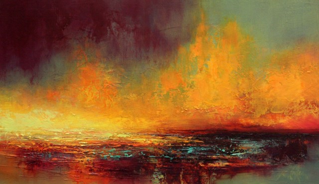Kirstie Cohen, Orange Sunset, 2016