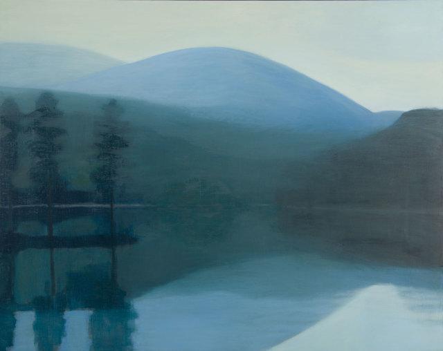 Jane MacNeill, Loch with Hidden Island (Loch an Eilein), 2019