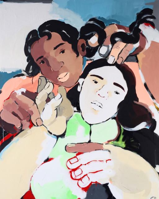 Cristina BanBan  Sister, 2018  Acrylic on canvas  120 x 159 cm  47 1/4 x 62 5/8 in