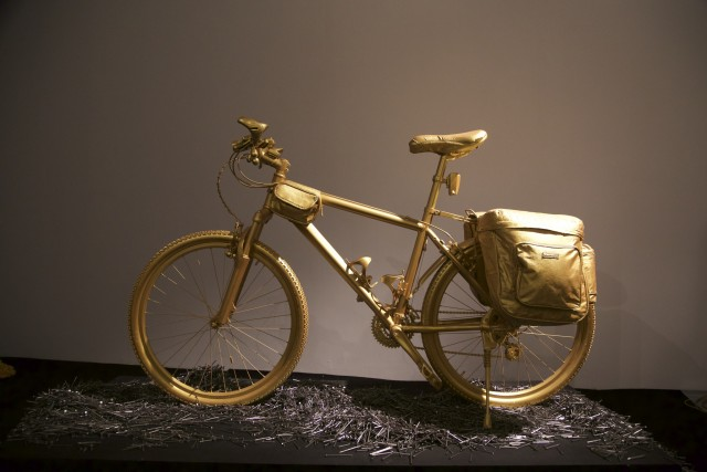 Zhang Ning 張寧, A Golden Journey-Bicycle, 2015
