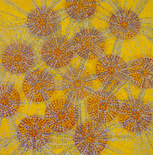 <div class=&#34;artist&#34;><strong>Diane Ayott</strong></div><div class=&#34;title&#34;><em>Applause</em>, 2014</div><div class=&#34;medium&#34;>mixed media on paper</div><div class=&#34;dimensions&#34;>20 x 20 in</div>