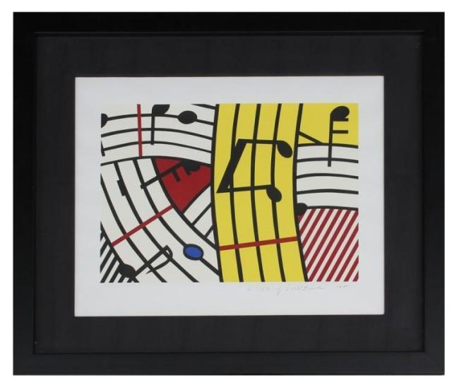 Roy Lichtenstein, Musical Notes, 1995