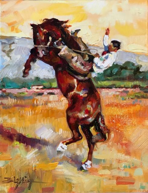 <span class=&#34;artist&#34;><strong>Beth Loftin</strong></span>, <span class=&#34;title&#34;><em>LOWLANDS BRONC</em></span>