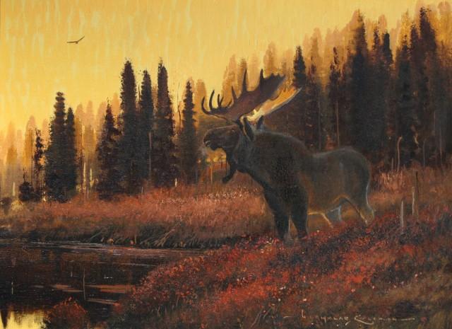 <span class=&#34;artist&#34;><strong>Nicholas Coleman</strong></span>, <span class=&#34;title&#34;><em>Young Bull at Dusk</em></span>