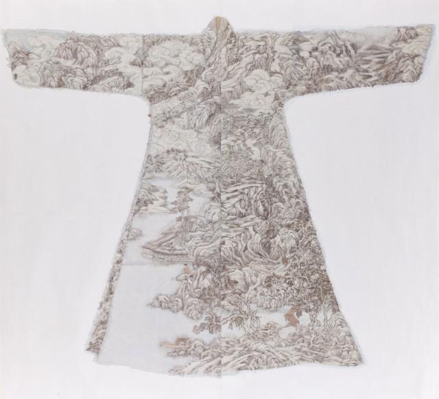 Peng Wei 彭薇, Cloudy Mountain 溪山雲雨, 2010
