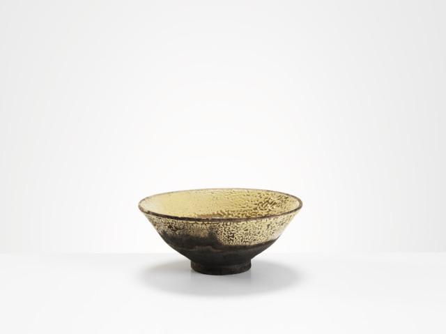 Cream/Yellow Raku Bowl