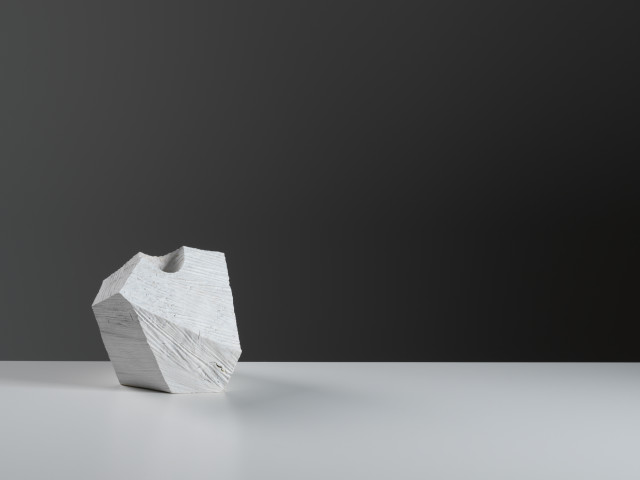 White Angular Vessel