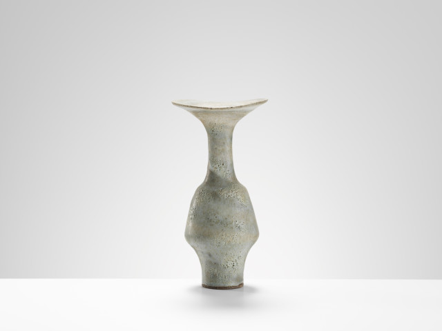 Lucie Rie, Vase with flared rim, c.1985