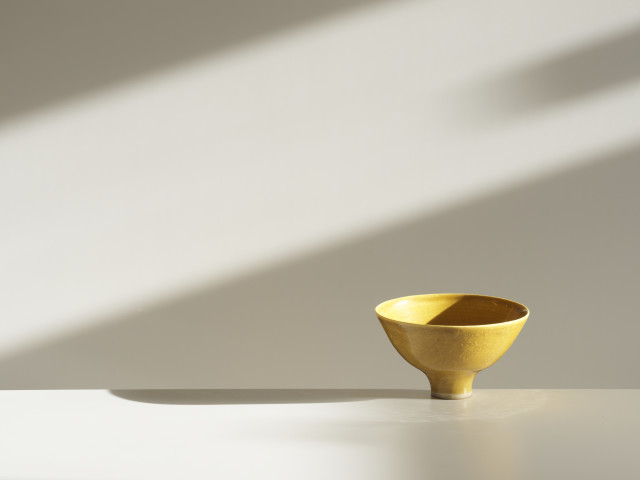 Lucie Rie, Yellow Bowl, c1980s