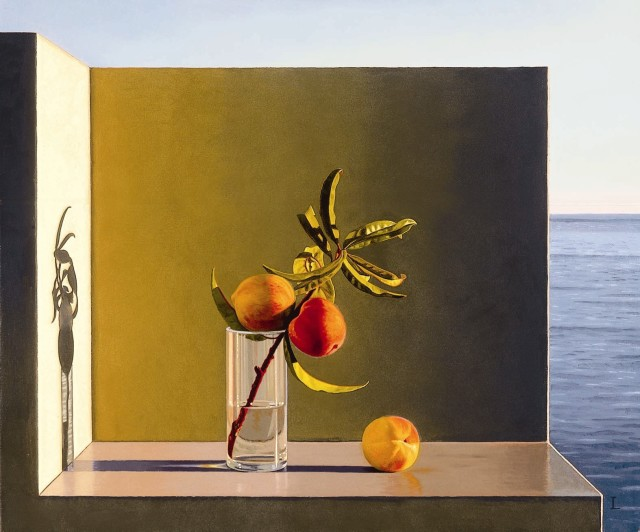 David ligare, Still Life with Peaches
