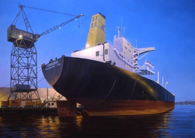 Dusk at Todd's Shipyard