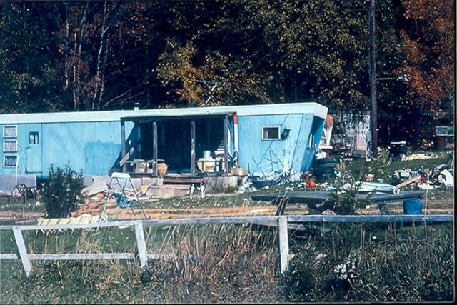 Blue Mobile Home