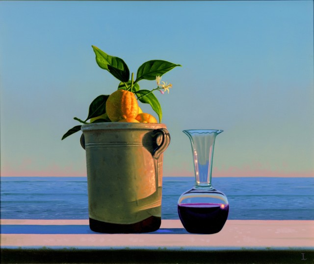 David Ligare, Still Life with Lemons and Wine