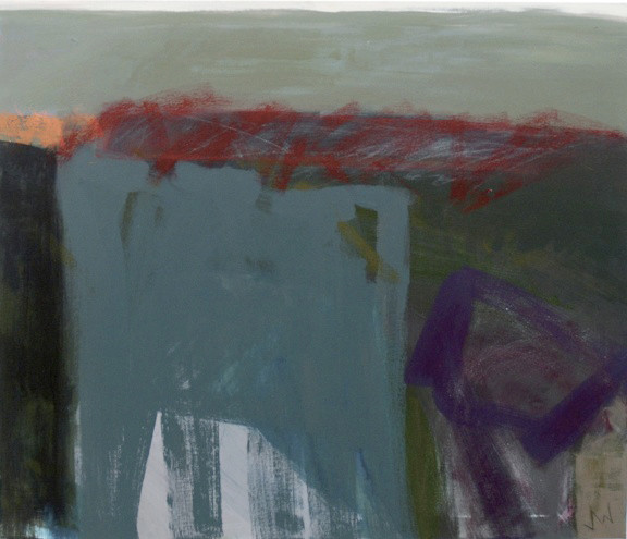 Julia Wilson, Dark Trail with Red, 2013