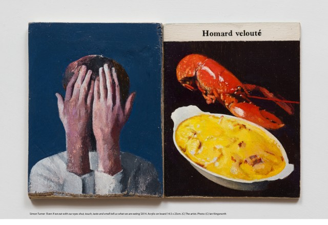 Simon Turner, Even if we eat with our eyes shut, touch, taste and smell tell us what we are eating',...