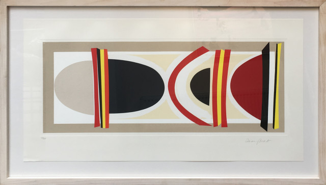 Sir Terry Frost RA, Long Red, Yellow and Black, 2002