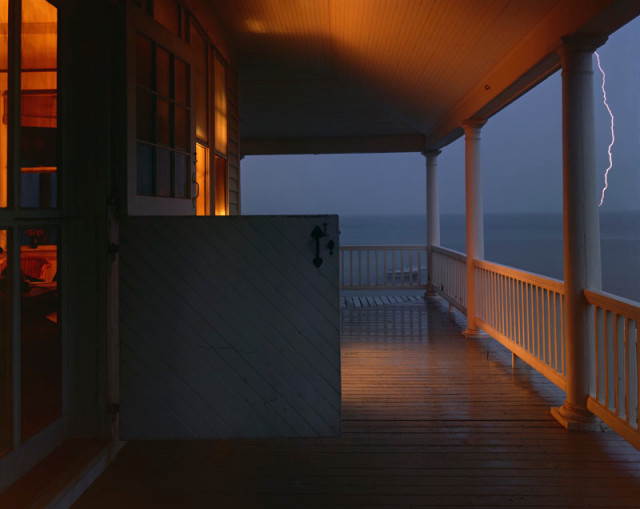 Joel Meyerowitz  Porch Series, Provincetown, 1977  Pigment print on archival paper flush mounted to Dibond  43 x 54 inch (109.22 x 137.16 cm) image  49 x 60 inch (124.46 x 152.4 cm) paper, board  Edition of 5 (#1/5)
