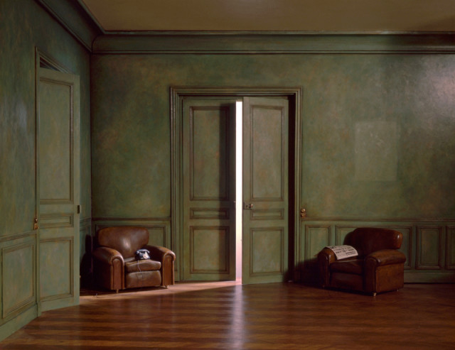 Charles Matton  The Green Living Room With Two Armchairs, 1987  Lambda Chromogenic print mounted to archival board  21 ½ x 27 ¾ inch (54.61 x 70.49 cm) image  28 x 36 inch (71.12 x 91.44 cm) board  Edition of 14 (#1/14)