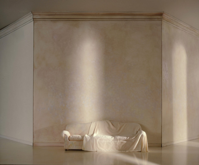 Charles Matton  A White Draped Couch in a White Space, 1987  Lambda Chromogenic print mounted to archival board  21 ½ x 27 ¾ inch (54.61 x 70.49 cm) image  28 x 34 inch (71.12 x 86.36 cm) board