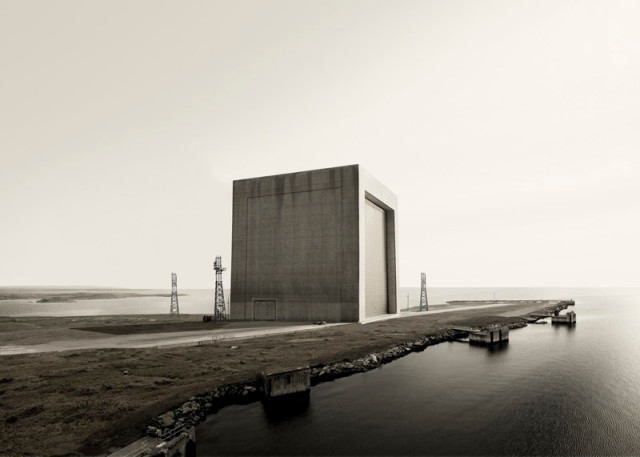 Carl Zimmerman, Exterior with Pier, 2013