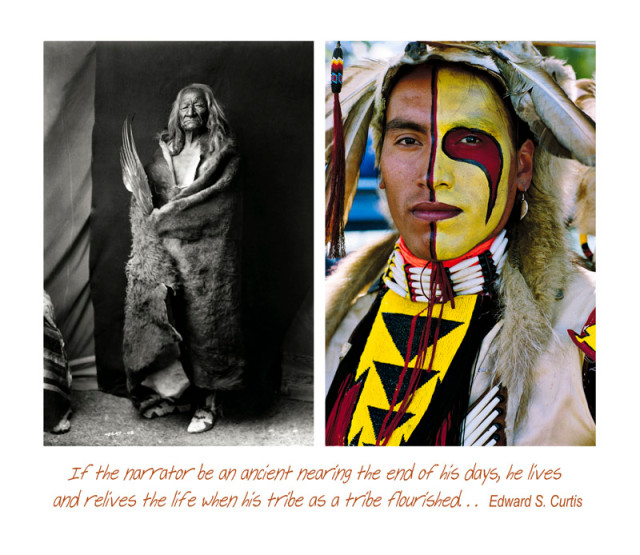 Jeff Thomas Plate - 9 Wabudi-sapa (Black Eagle) and Kevin Haywahe: Two Assiniboine Men, 1991 Pigment print on archival paper 35 x 43 ¼ inch (88.9 x 109.86 cm) Edition of 15 (#1/15)