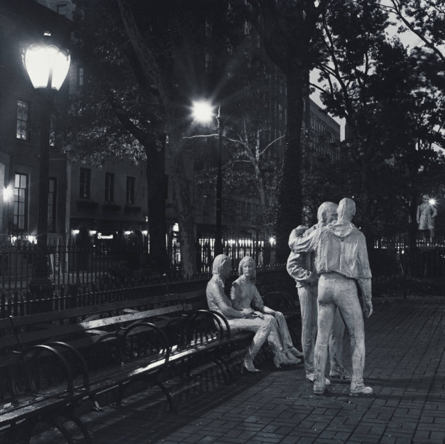 "Robert Giard, Sheridan Square, George Segal Sculptures, NYC, ""Gay Liberation"", 1992"