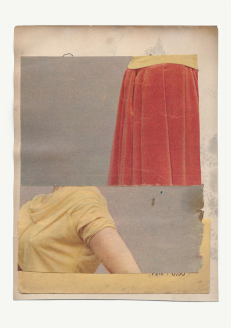 Katrien De Blauwer  Couleur pâle 30, 2016  Unique collage with publication cutouts  7 5⁄8 x 5 ¾ inch (19.37 x 14.61 cm)