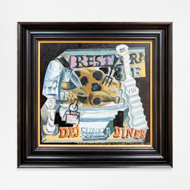 Dick Frizzell, Winner Winner Chicken Dinner - Picasso's Roast, 20/2/2021