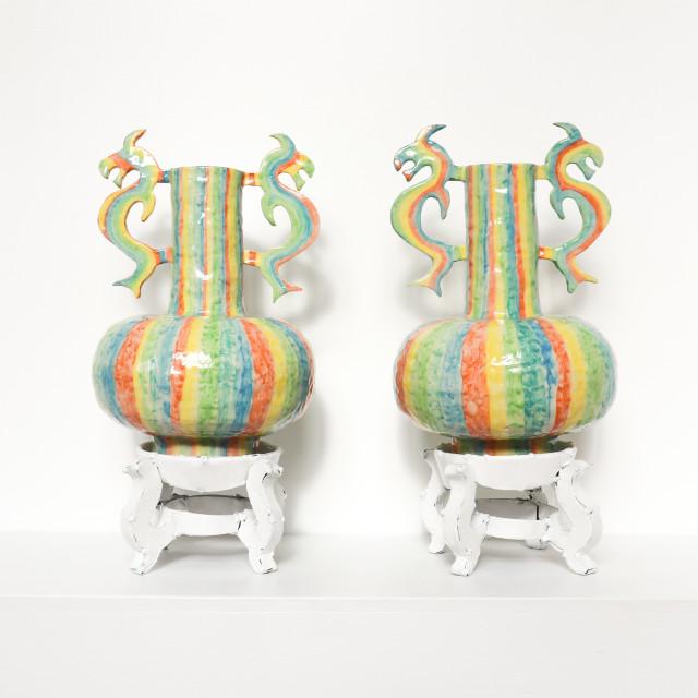 Hannah Kidd, Chinese Rainbow Pots, 2021