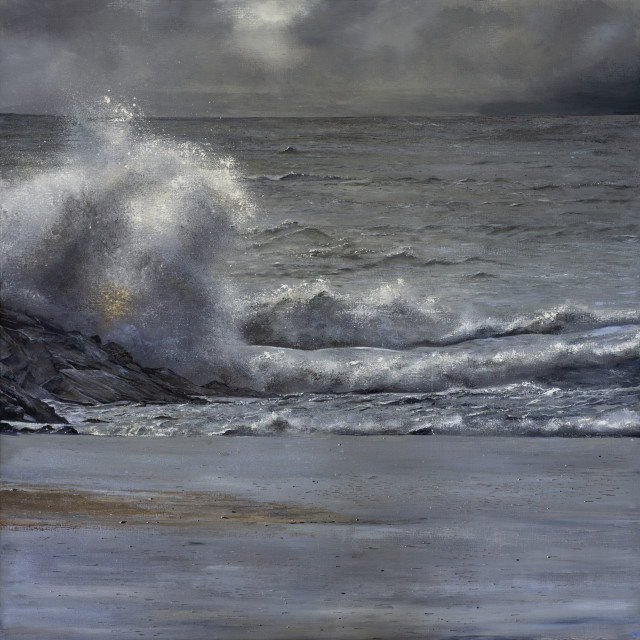 Suki Wapshott  Highs and Lows  Oil on linen canvas  165 x 165 cm