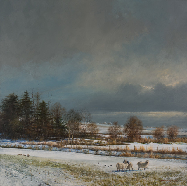 <div class=&#34;artist&#34;><strong>Bryan Hanlon</strong></div><div class=&#34;title_and_year&#34;><em>SNOW ON THE DOWNS</em></div><div class=&#34;medium&#34;>Acrylic on Board</div><div class=&#34;dimensions&#34;>23.5&#34; X 23.5&#34;</div>