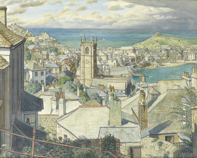 <span class=&#34;artist&#34;><strong>Stanley Roy Badmin</strong></span>, <span class=&#34;title&#34;><em>St Ives, Cornwall</em></span>