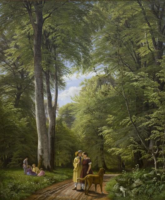 Peter Christian Skovgaard (1817-1875), A Beech Wood in May near Iselingen Manor, 1857, Oil on canvas, 189,5 x 158,5 cm, Statens Museum, Copenhagen