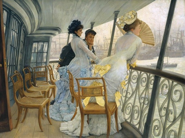 "James Tissot (1836-1902), The Gallery of HMS ""Calcutta"" (Portsmouth), 1876, oil on canvas, 68,6 x 91,8 cm, Tate"