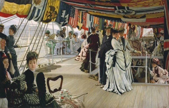 James Tissot (1836-1902), The Ball on shipboard, c. 1874, oil on canvas, 84,1 x 129,5 cm, Tate Britain