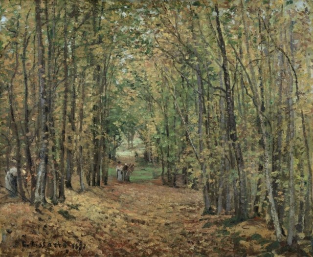 Camille Pissarro (1830-1903), The woods at Marly, 1871, oil on canvas, 45 x 55 cm, Museo Thyssen-Bornemisza, Madrid