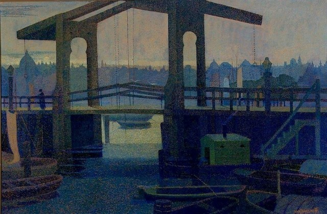 Henri van Daalhoff (1867-1953), Draw-bridge, 1899, oil on canvas, 97,2 x 145,3 cm, Kröller-Müller Museum, Netherlands