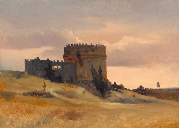 Léon Fleury (1804-1885), The tomb of Cecaelia Metella, c. 1830, oil on canvas, 27,9 x 33 cm, NGA Washington