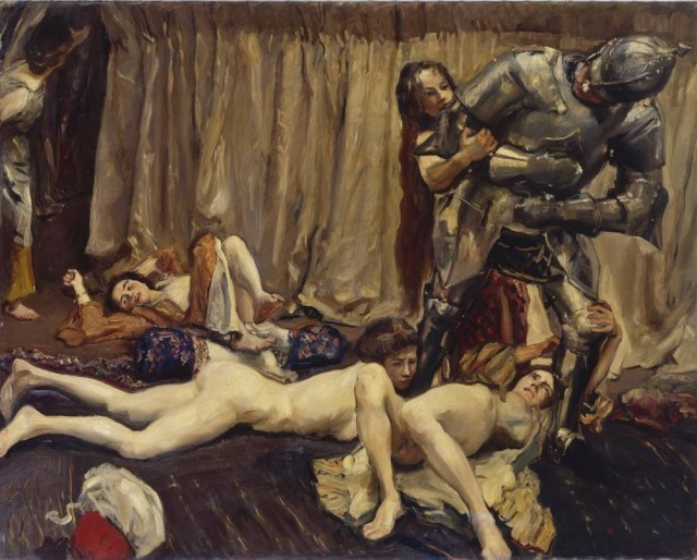 Max Slevogt (1868-1932), Der Ritter und die Frauen, 1903, oil on canvas, 160,5 x 205 cm, Galerie Neue Meister Dresden