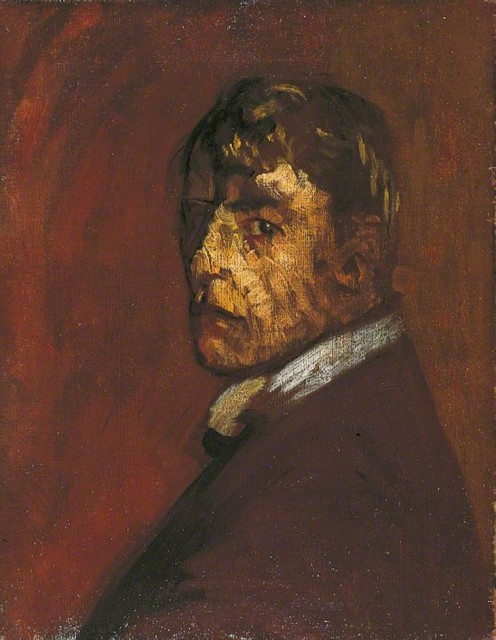 Walter Sickert (1860 - 1942), Self-portrait, ca. 1896, oil on canvas, 45,7 x 35,6 cm, Leeds Museums and Galleries