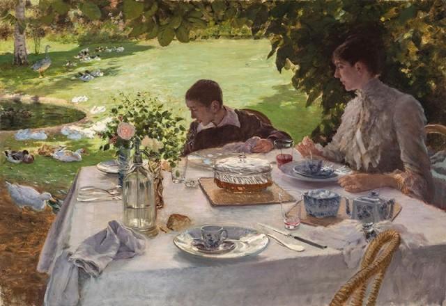 Giuseppe De Nittis (1846-1884), Breakfast in the garden, 1883, oil on canvas, 81 x 117 cm, Barletta, Pinacoteca De Nittis