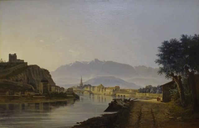 Jean Alexis Achard (1807-1884), View of Grenoble, 1837, oil on canvas, 60,5 x 92 cm, Musée de Grenoble