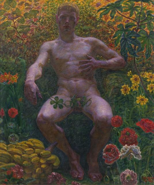 Kristian Zahrtmann (1843-1917), Adam in The Garden of Eden, 1914, oil on canvas, 82,5 x 69 cm, Nationalmuseum Stockholm