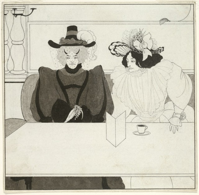Aubrey Beardsley (1872-1898), Black coffee, 1895, black ink on paper, 15,7 x 15,9 cm, Harvard Art Museums/Fogg Museum