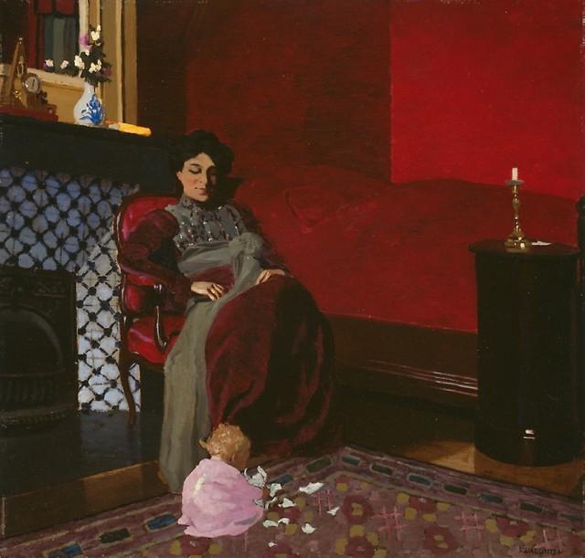 Félix Vallotton (1865-1925), The red room, Etretat, 1899, oil on board, 49,2 x 51,3 cm, Art Institute Chicago