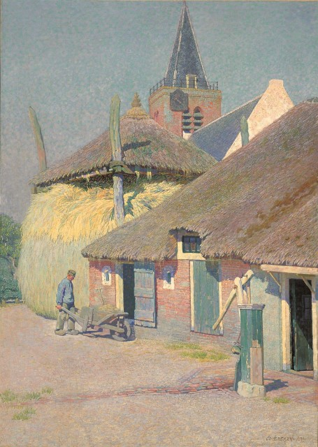 Co Breman (1865-1938), Farmhouse in Blaricum, 1899, oil on canvas, 142 x 103 cm, Singer Laren