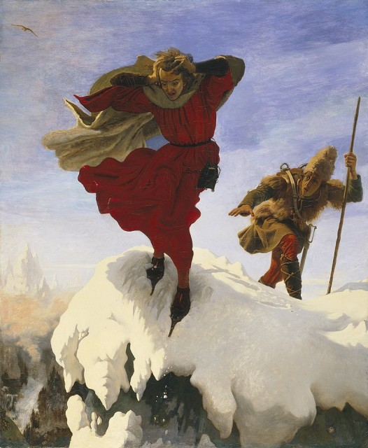 Ford Madox Brown (1821-1893), Manfred on the Jungfrau, 1842, oil on canvas, 140 x 115 cm, Manchester Art Gallery