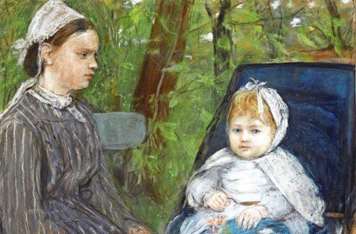 Berthe Morisot (1841-1895), Nurse and child (Blanche Pontillon), 1872, oil on canvas, private collection